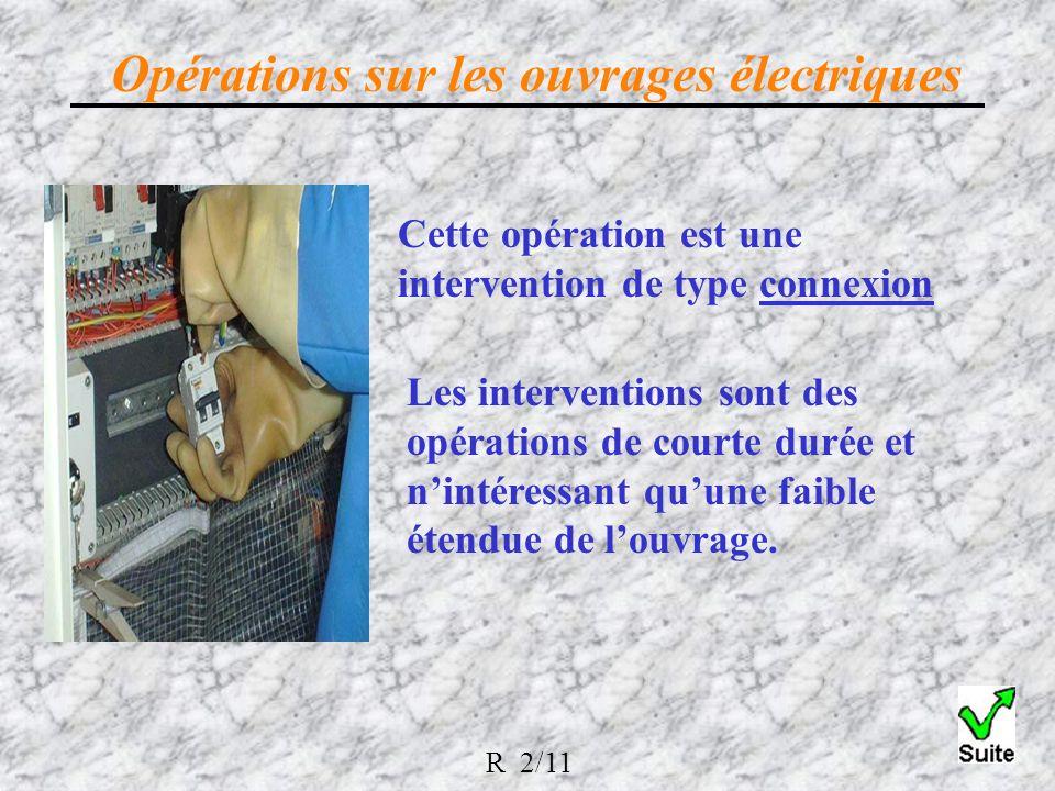 Cette opération est une intervention de type connexion Les interventions sont des opérations de courte durée et nintéressant quune faible étendue de louvrage.