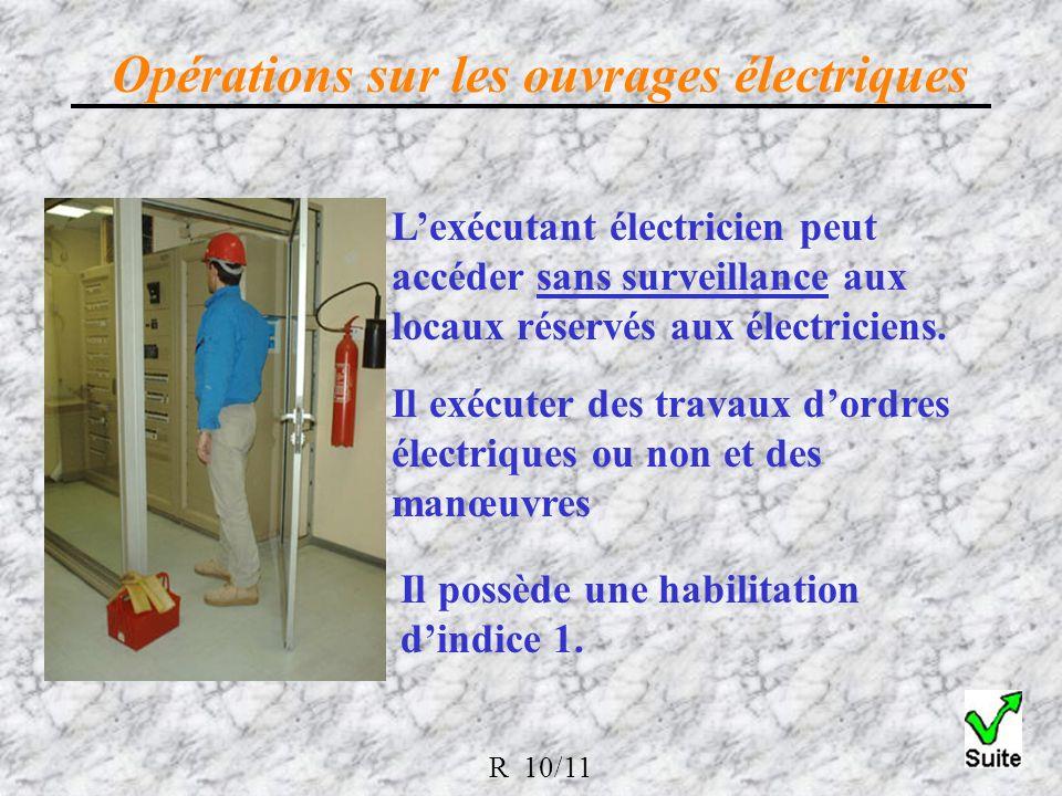 Lexécutant électricien peut accéder sans surveillance aux locaux réservés aux électriciens.