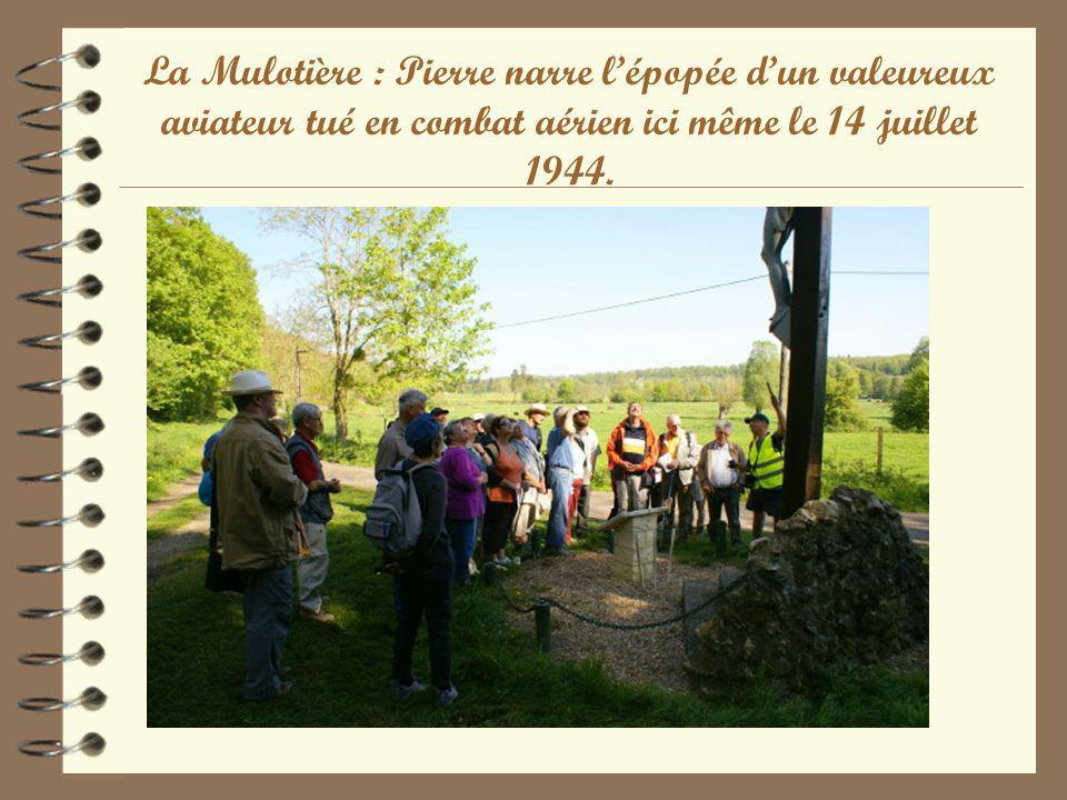 La Mulotière : Pierre narre lépopée dun valeureux aviateur tué en combat aérien ici même le 14 juillet 1944.