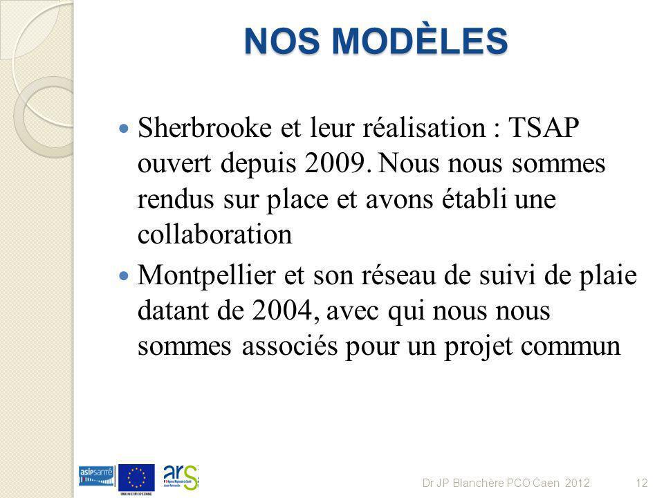 NOS MODÈLES Sherbrooke et leur réalisation : TSAP ouvert depuis 2009. Nous nous sommes rendus sur place et avons établi une collaboration Montpellier