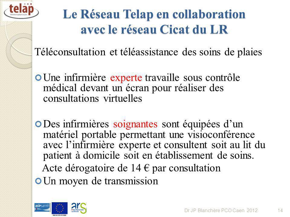 Le Réseau Telap en collaboration avec le réseau Cicat du LR Téléconsultation et téléassistance des soins de plaies Une infirmière experte travaille so