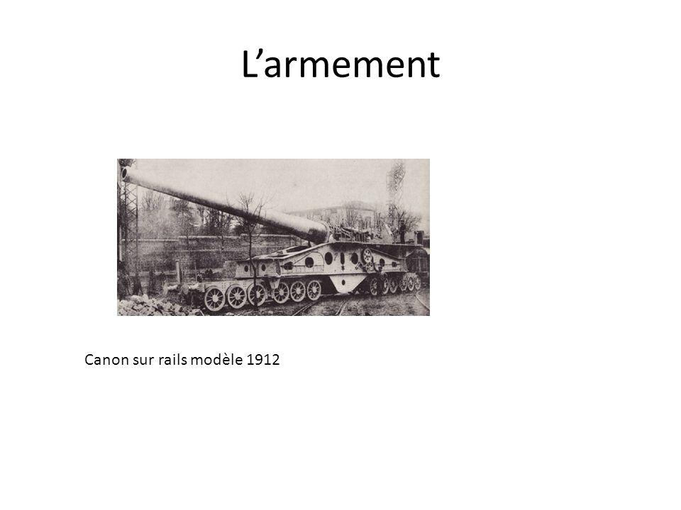 Larmement Canon sur rails modèle 1912