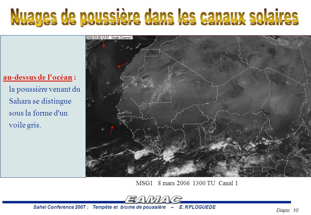 Diapo: 10 Sahel Conference 2007 : Tempête et brume de poussière – E.