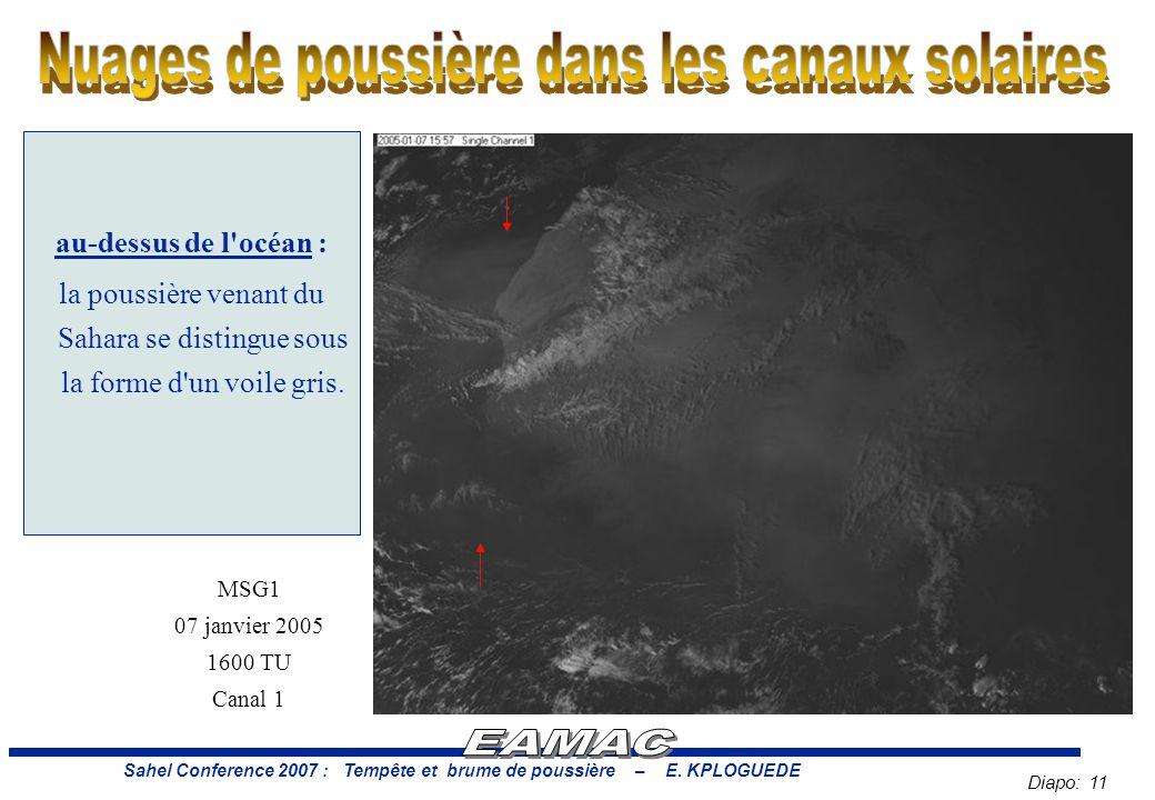Diapo: 11 Sahel Conference 2007 : Tempête et brume de poussière – E.