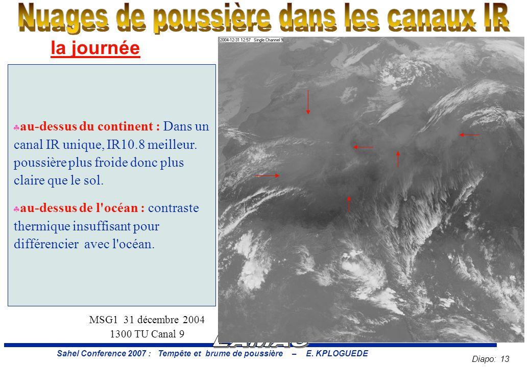 Diapo: 13 Sahel Conference 2007 : Tempête et brume de poussière – E.