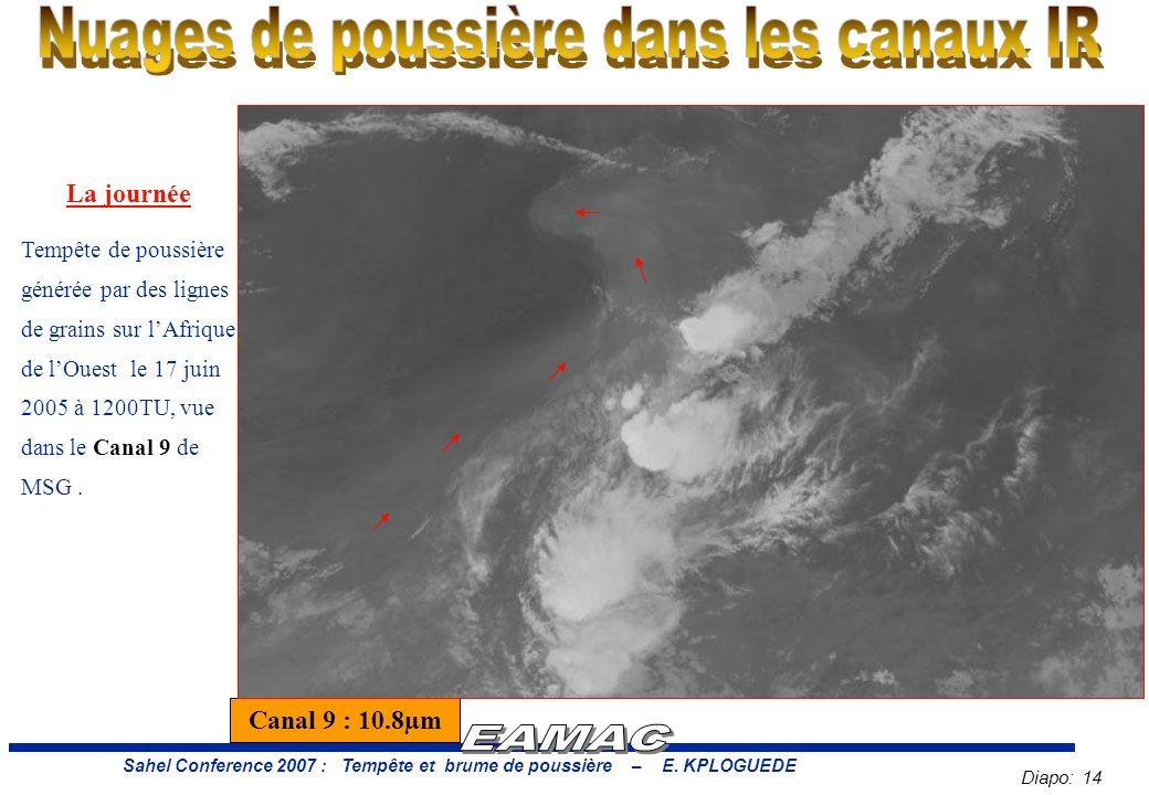 Diapo: 14 Sahel Conference 2007 : Tempête et brume de poussière – E.
