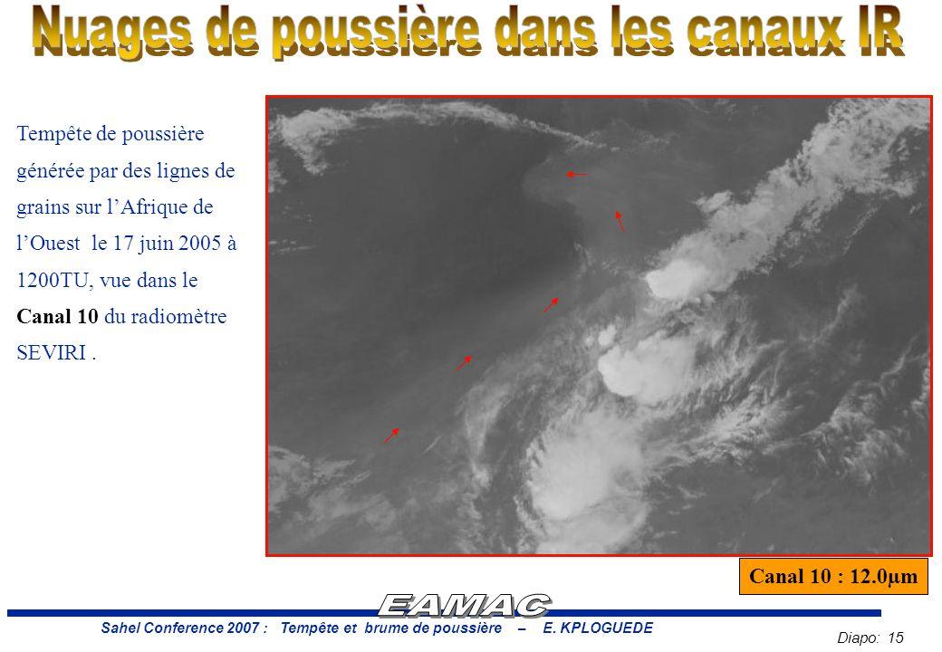 Diapo: 15 Sahel Conference 2007 : Tempête et brume de poussière – E.
