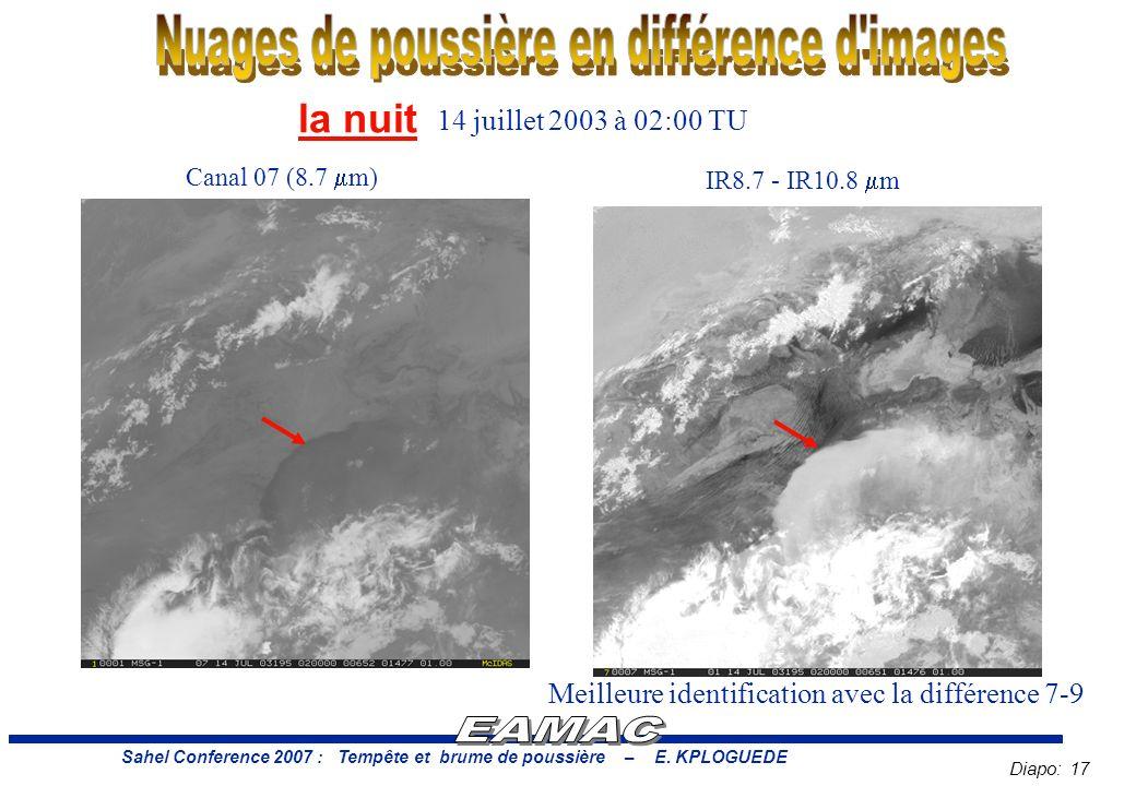 Diapo: 17 Sahel Conference 2007 : Tempête et brume de poussière – E.