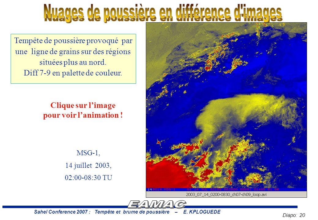 Diapo: 20 Sahel Conference 2007 : Tempête et brume de poussière – E.