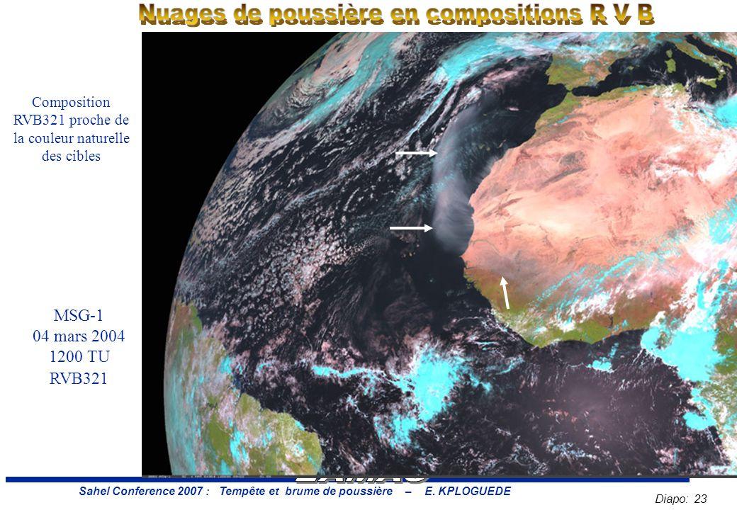 Diapo: 23 Sahel Conference 2007 : Tempête et brume de poussière – E.