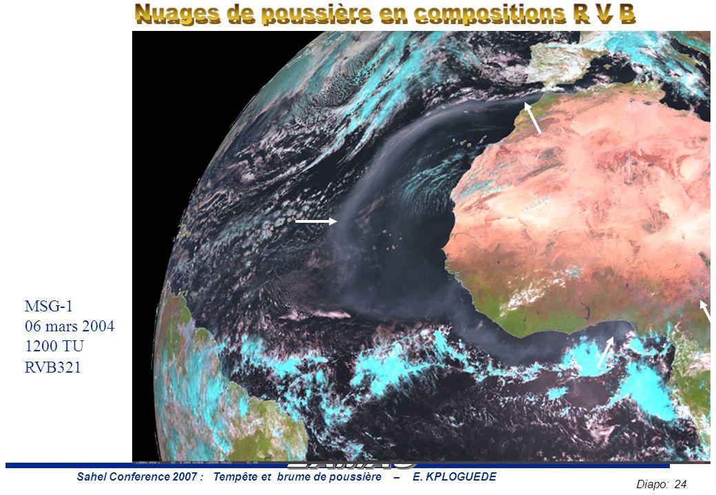 Diapo: 24 Sahel Conference 2007 : Tempête et brume de poussière – E.