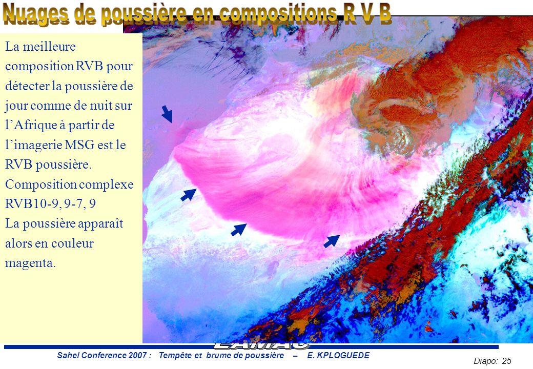 Diapo: 25 Sahel Conference 2007 : Tempête et brume de poussière – E.