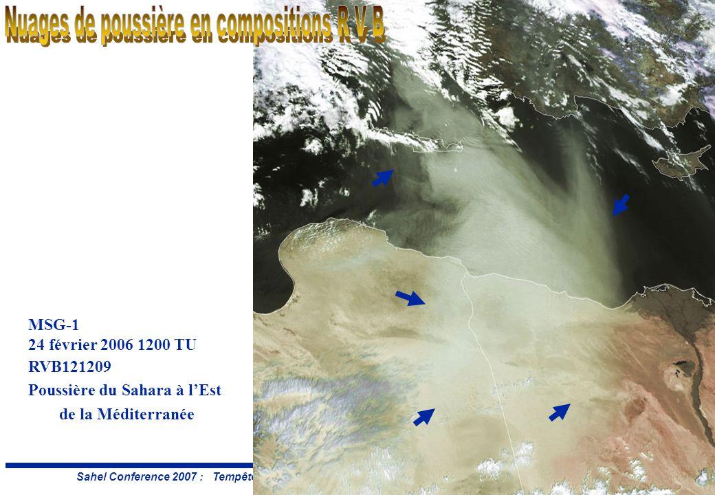Diapo: 28 Sahel Conference 2007 : Tempête et brume de poussière – E.