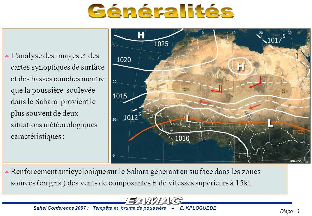 Diapo: 3 Sahel Conference 2007 : Tempête et brume de poussière – E.