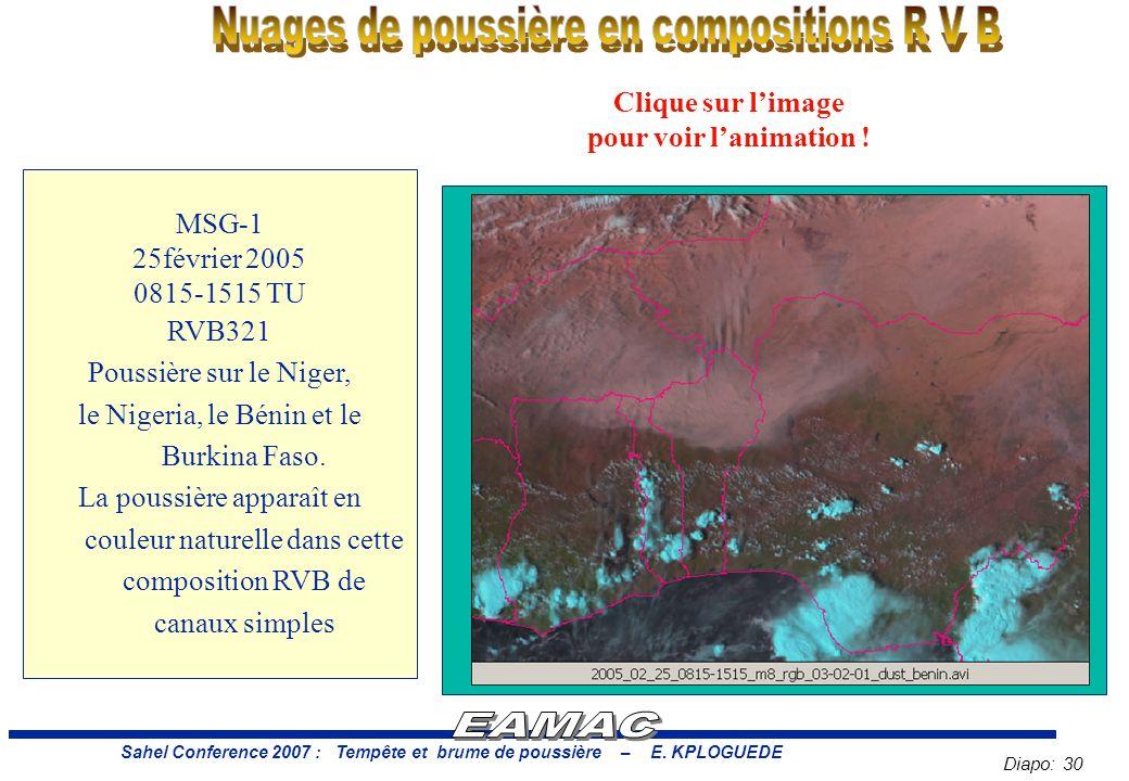 Diapo: 30 Sahel Conference 2007 : Tempête et brume de poussière – E.