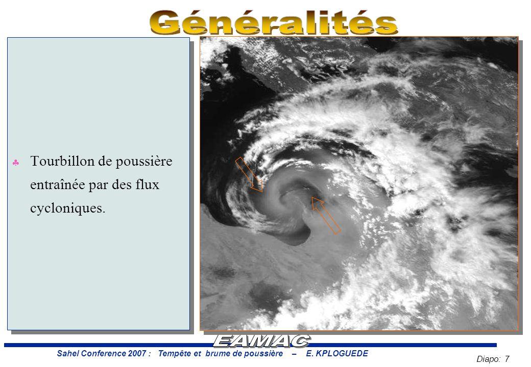 Diapo: 7 Sahel Conference 2007 : Tempête et brume de poussière – E.