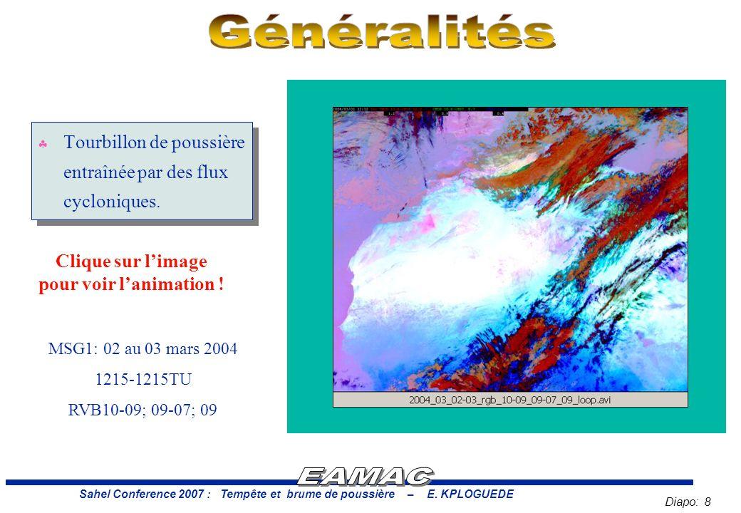Diapo: 8 Sahel Conference 2007 : Tempête et brume de poussière – E.
