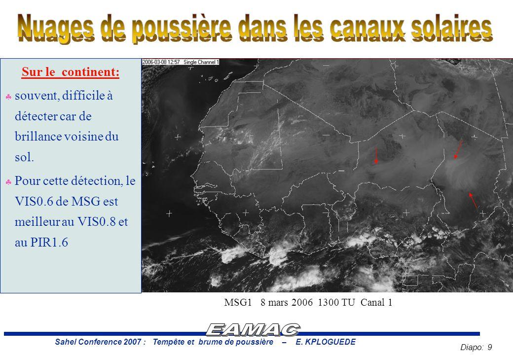 Diapo: 9 Sahel Conference 2007 : Tempête et brume de poussière – E.