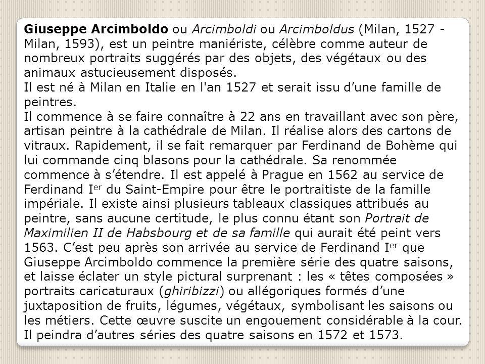 Le feu Arcimboldo Giussepe