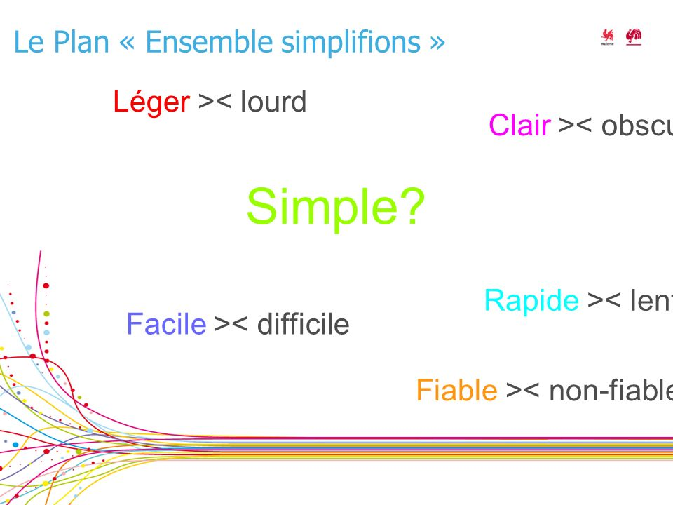 Le Plan « Ensemble simplifions » Simple.