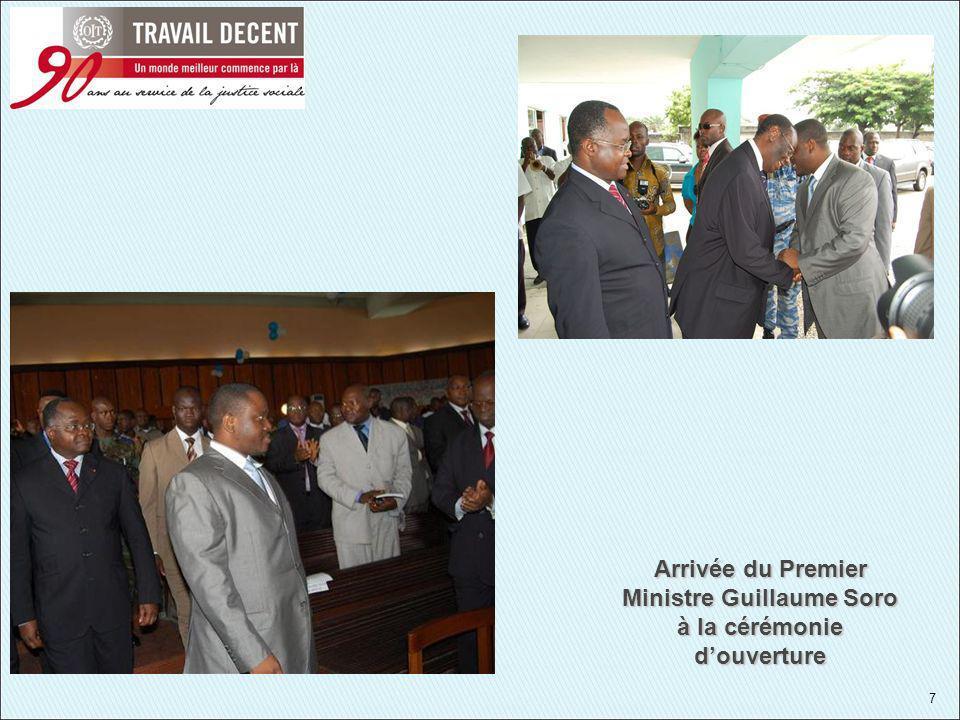 7 Arrivée du Premier Ministre Guillaume Soro à la cérémonie douverture
