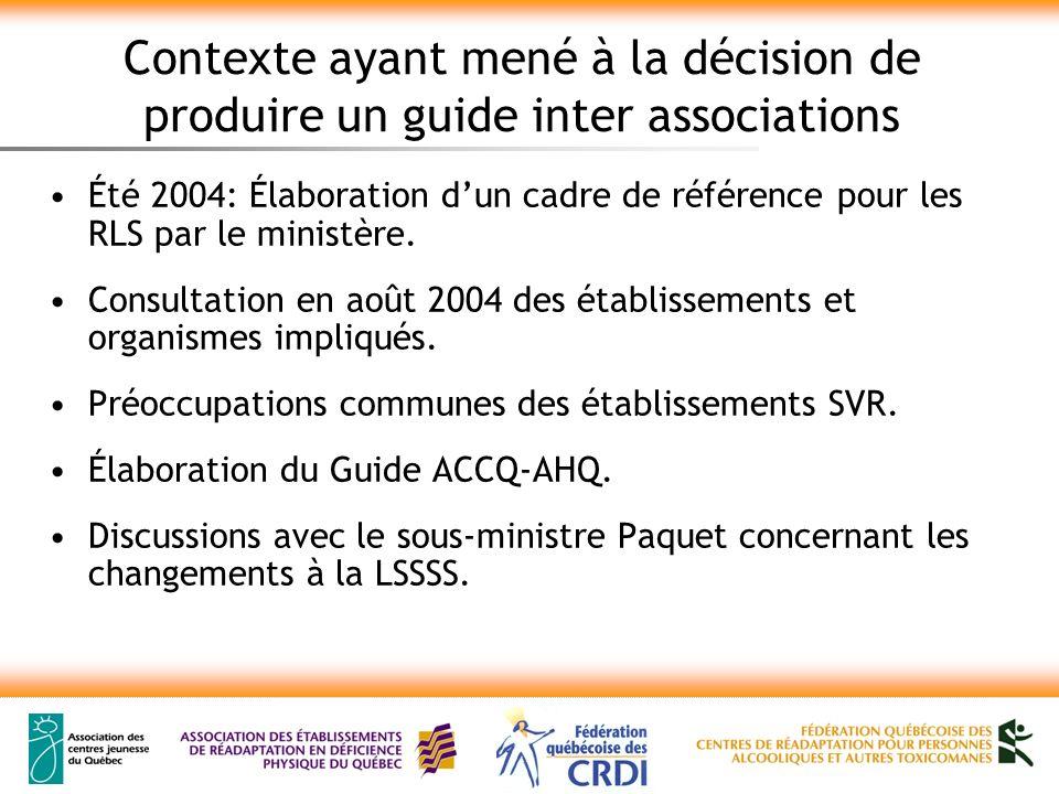 Objectifs du guide Outiller les établissements SVR pour leur permettre de jouer un rôle actif dans lélaboration et limplantation des projets cliniques.