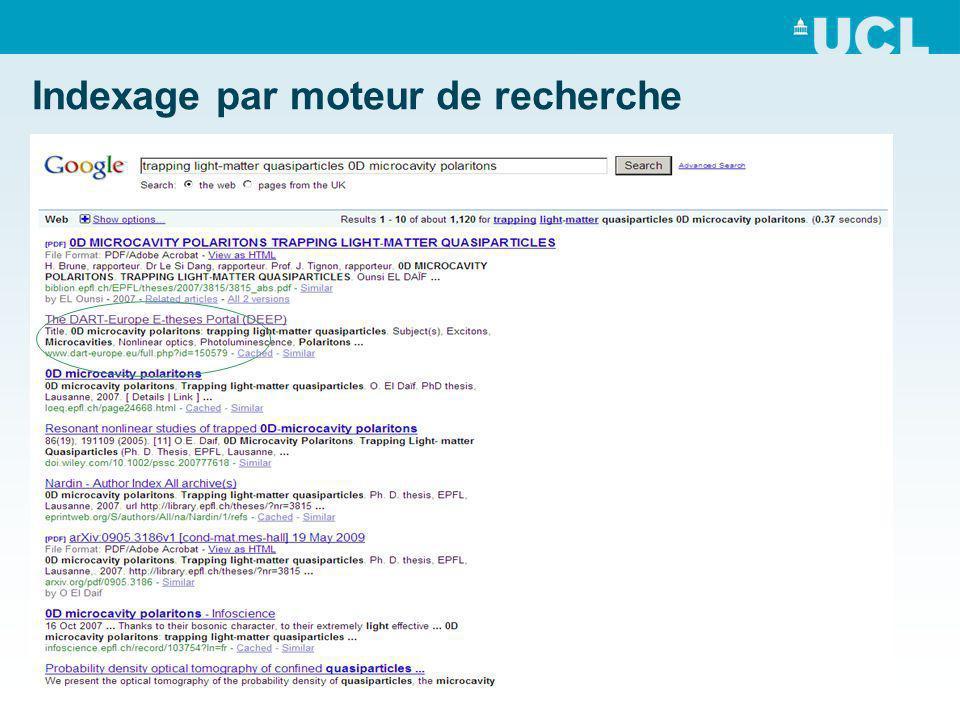 Indexage par moteur de recherche