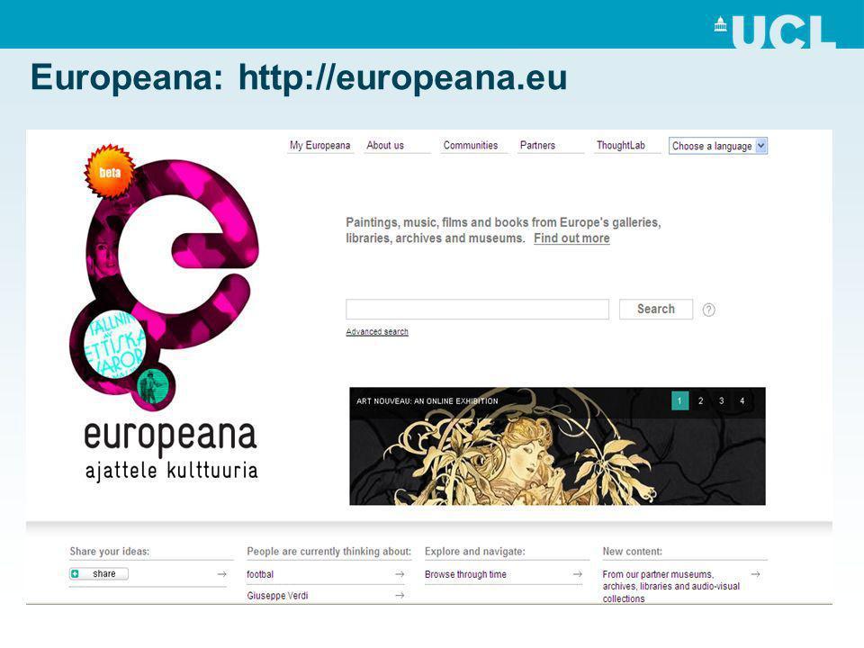 Europeana: http://europeana.eu