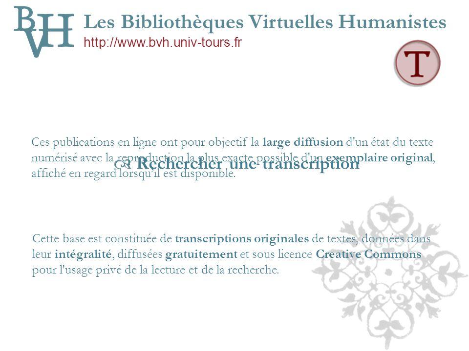 Premières publications en ligne de transcriptions intégrales Site Epistemon v.1 – Université de Poitiers HTML 1998 2001 Migration de la base Epistemon