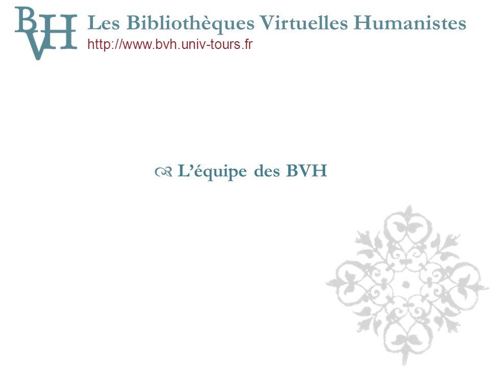 Léquipe des BVH