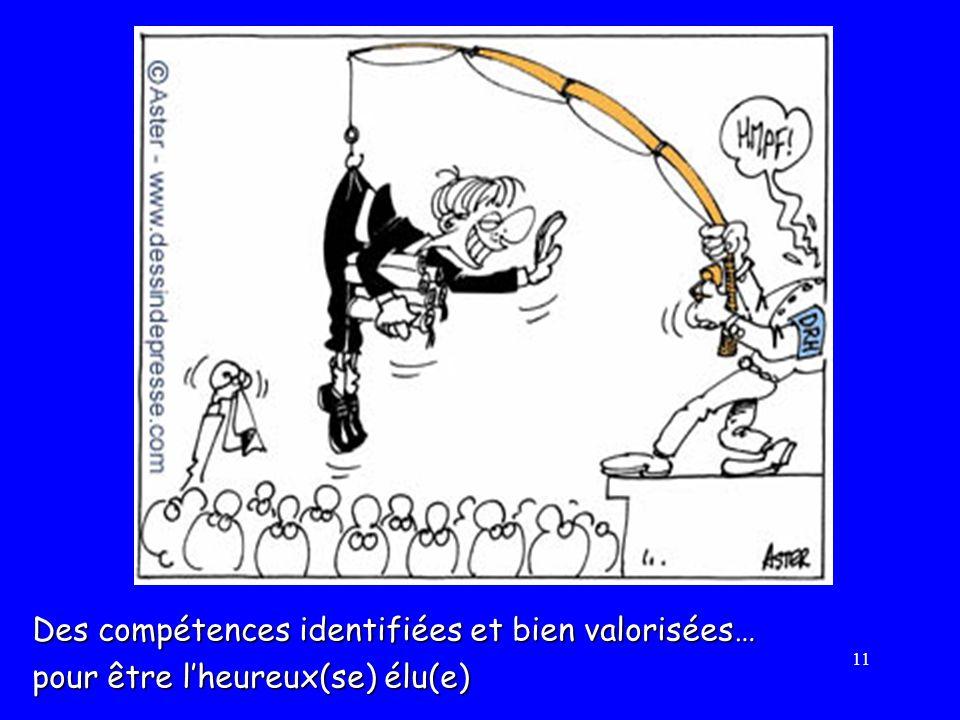 11 Des compétences identifiées et bien valorisées… pour être lheureux(se) élu(e)