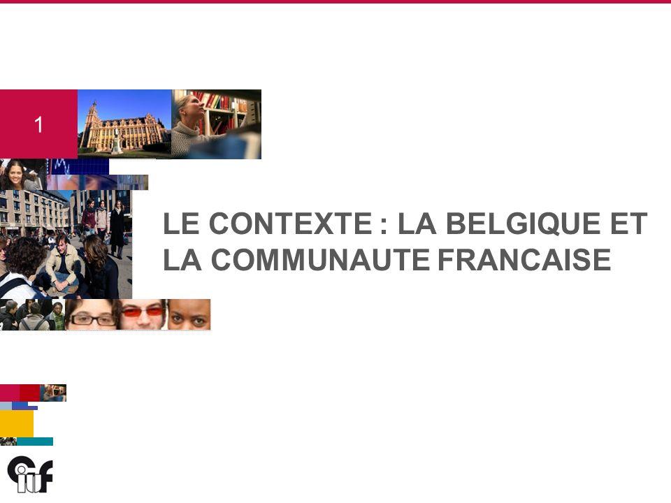 1 1 LE CONTEXTE : LA BELGIQUE ET LA COMMUNAUTE FRANCAISE