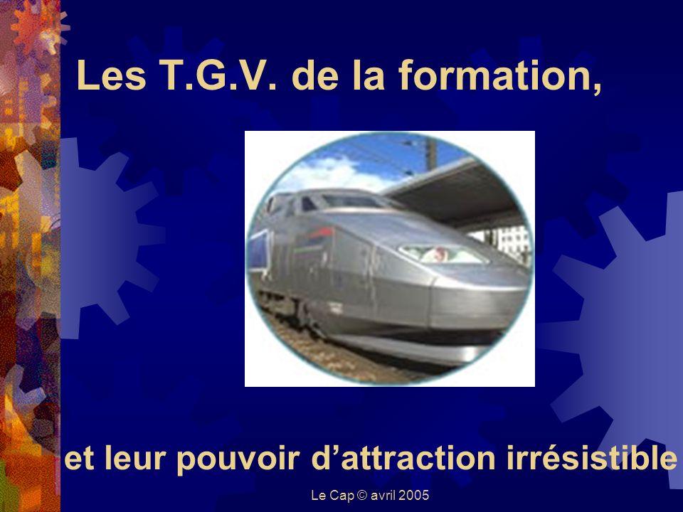 Le Cap © avril 2005 Les T.G.V. de la formation, et leur pouvoir dattraction irrésistible