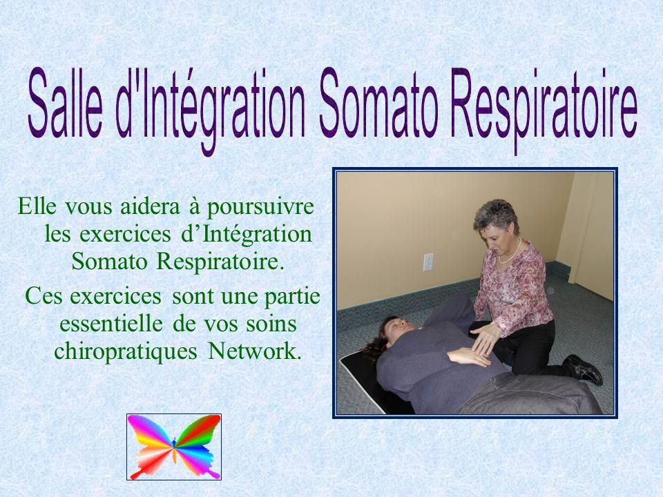 Elle vous aidera à poursuivre les exercices dIntégration Somato Respiratoire. Ces exercices sont une partie essentielle de vos soins chiropratiques Ne