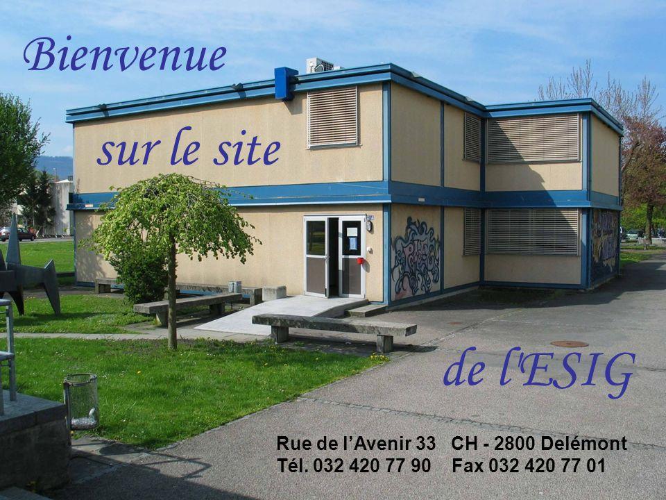 Bienvenue Rue de lAvenir 33 CH - 2800 Delémont Tél.