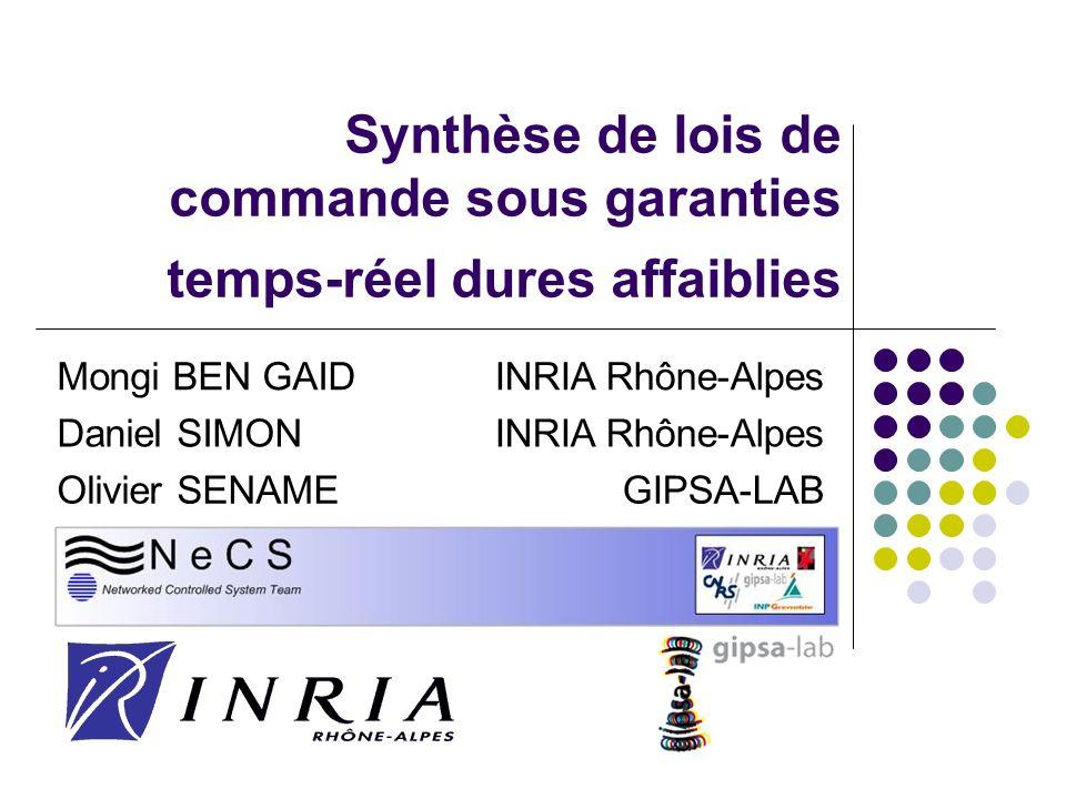 Synthèse de lois de commande sous garanties temps-réel dures affaiblies Mongi BEN GAIDINRIA Rhône-Alpes Daniel SIMONINRIA Rhône-Alpes Olivier SENAMEGIPSA-LAB