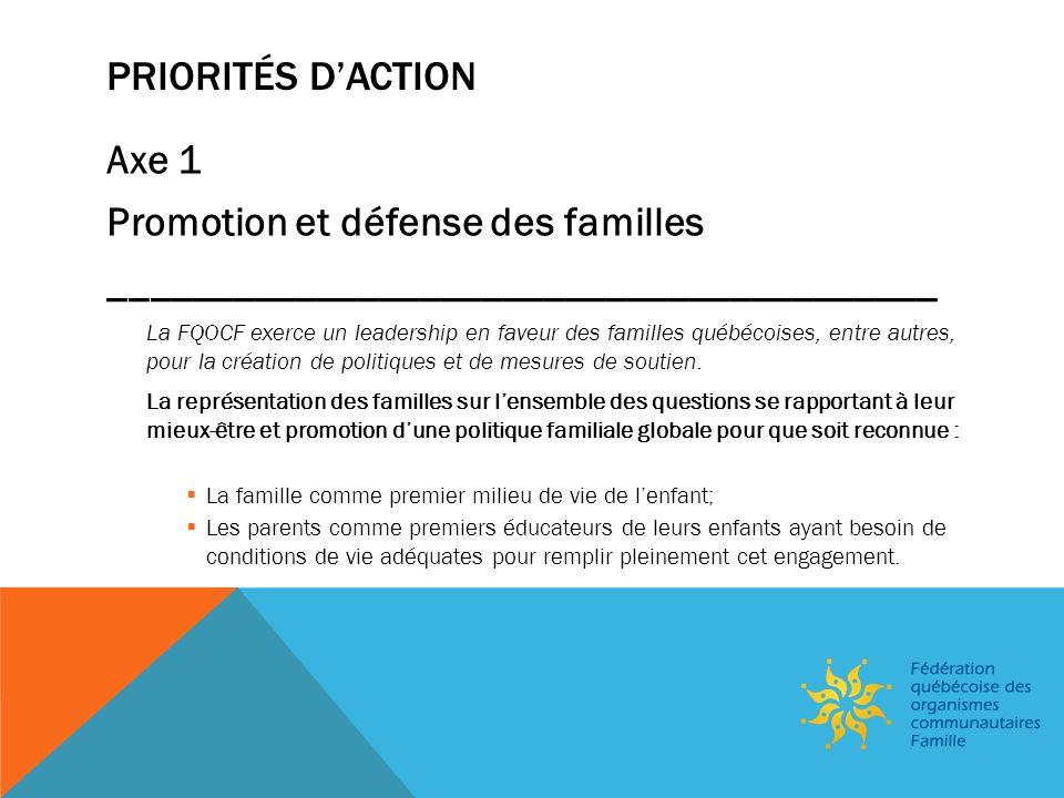 FORCES – FAIBLESSES – OPPORTUNITÉS – MENACES ______________________________________________ OPPORTUNITÉS Momentum: 20 e anniversaire de lannée internationale de la Famille Automne 2013: GRPS et Forum Famille et consultation Web sur la famille québécoise: et rehaussement de 5 millions dans le financement à la mission: une préoccupation Expertise des OCF dans le développement global des enfants et le soutien aux parents dans leur rôle déducation nommée par des acteurs incontournables (2 avis du CSE) Les OCF : des acteurs essentiels pour la réalisation de la mission du MF et de lorganisme Avenir denfants (FLAC) Expertise dans le développement des connaissances sur les pratiques en OCF et sur le thème de lÉveil au monde de lécrit.