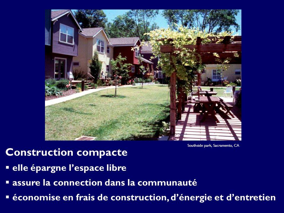 Southside park, Sacramento, CA Construction compacte elle épargne lespace libre assure la connection dans la communauté économise en frais de construction, dénergie et dentretien