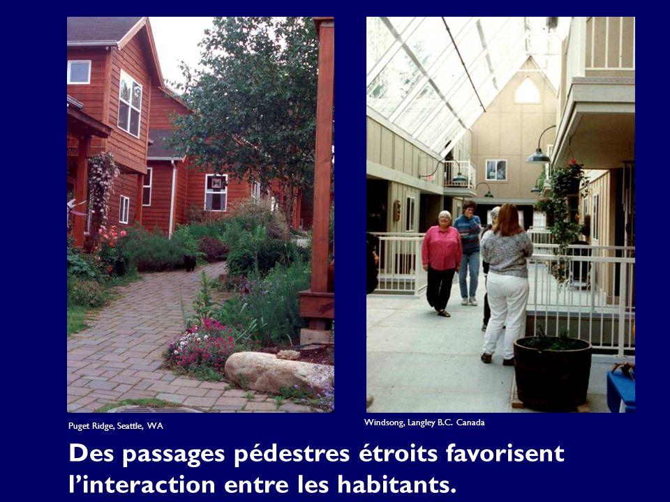 Des passages pédestres étroits favorisent linteraction entre les habitants.
