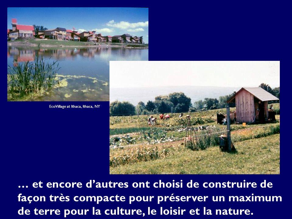 … et encore dautres ont choisi de construire de façon très compacte pour préserver un maximum de terre pour la culture, le loisir et la nature.