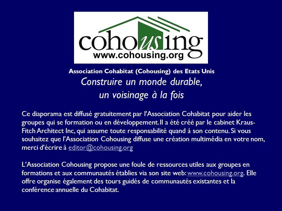 Ce diaporama est diffusé gratuitement par l'Association Cohabitat pour aider les groupes qui se formation ou en développement. Il a été créé par le ca