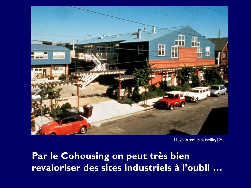 Doyle Street, Emeryville, CA Par le Cohousing on peut très bien revaloriser des sites industriels à loubli …