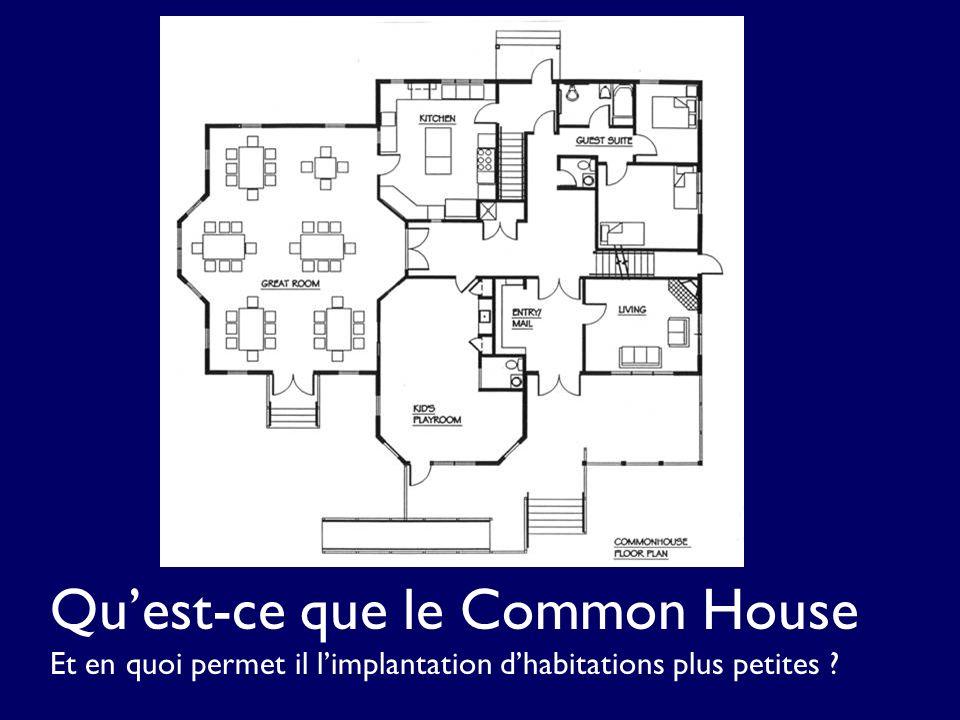 Quest-ce que le Common House Et en quoi permet il limplantation dhabitations plus petites ?