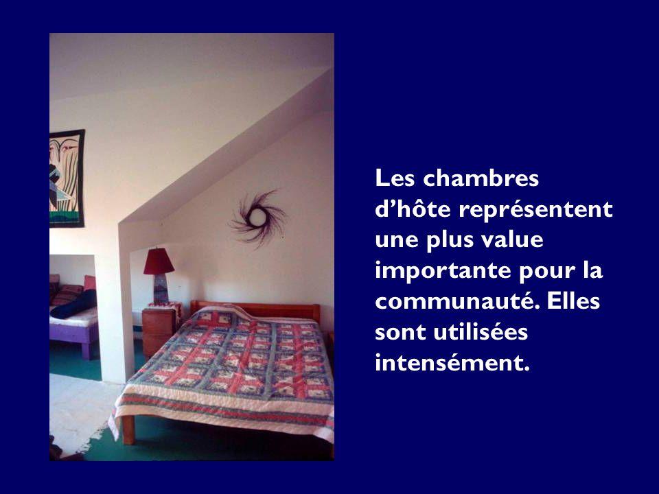Les chambres dhôte représentent une plus value importante pour la communauté. Elles sont utilisées intensément.