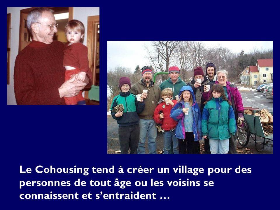 La plupart des communautés cohousing sont multi- générationnelles.