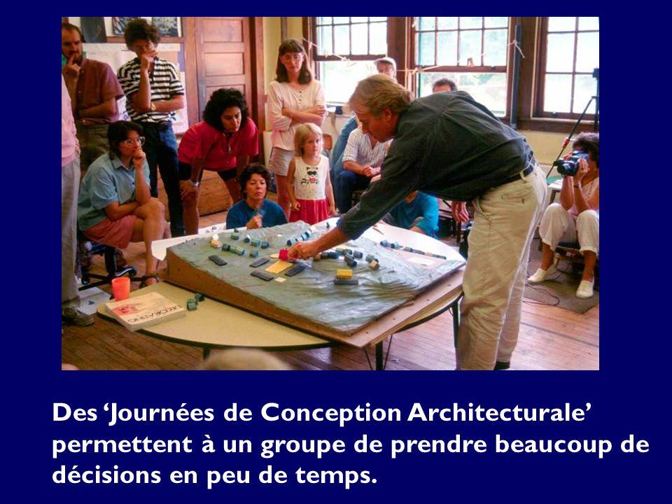 Des Journées de Conception Architecturale permettent à un groupe de prendre beaucoup de décisions en peu de temps.
