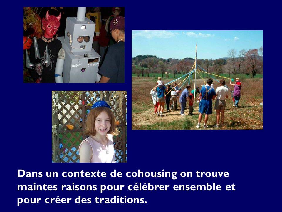 Dans un contexte de cohousing on trouve maintes raisons pour célébrer ensemble et pour créer des traditions.