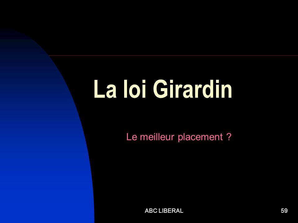 ABC LIBERAL59 La loi Girardin Le meilleur placement ?