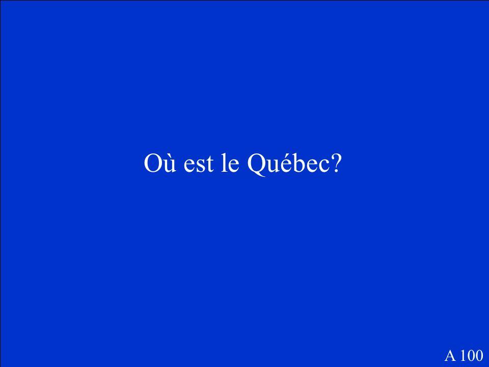 Où est la France? B 100
