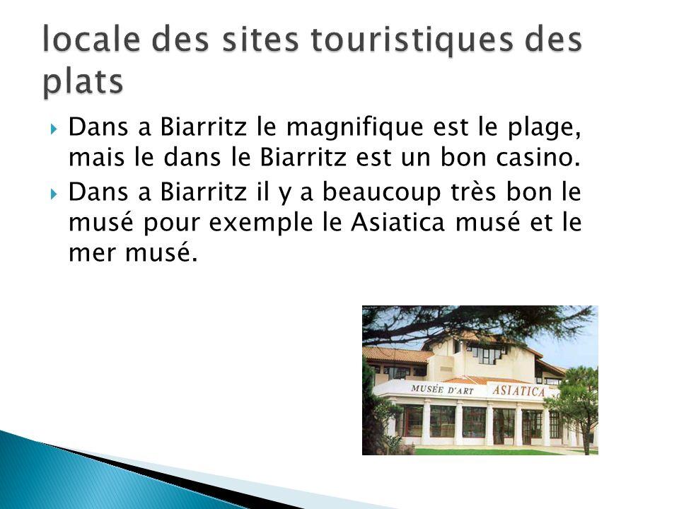 Dans a Biarritz le magnifique est le plage, mais le dans le Biarritz est un bon casino. Dans a Biarritz il y a beaucoup très bon le musé pour exemple